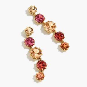J. Crew pink crystal drop earrings